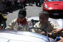 Saturday  leg - Rowan Atkinson , Mr Bean. at the check point in Siena, Tuscany
