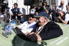 Flavors of the Mille Miglia - Sir Stirling Moss and founder Cruise to Se7en Leon Beenen at the Mille MigliaSir Stirling Moss and Norman Dewis