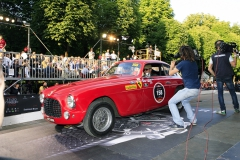 Acces on the podium inpossible, only in front of the start only with special passes for the Miglia