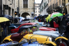 Thursday Mille Miglia Village -Mille Miglia used to be know for a wet start