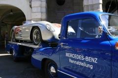 Thursday Mille Miglia Village- The Machine: Mercedes-Benz 300 SLR #658 on display  on  Corso Giuseppe (Mille Miglia 2015)
