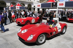 Thursday - Under the tent at Piazza Vittoria:  the location where the cars are sealed.
