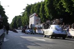 Thursday - driving the startpodium at Viale Venezia