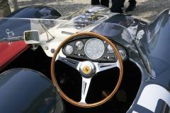 Ferrari 335 Sport cockpit and the V12 engine