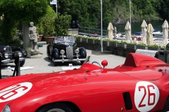 Saturday view from 750 Monza to a Lancia Astura Serie III