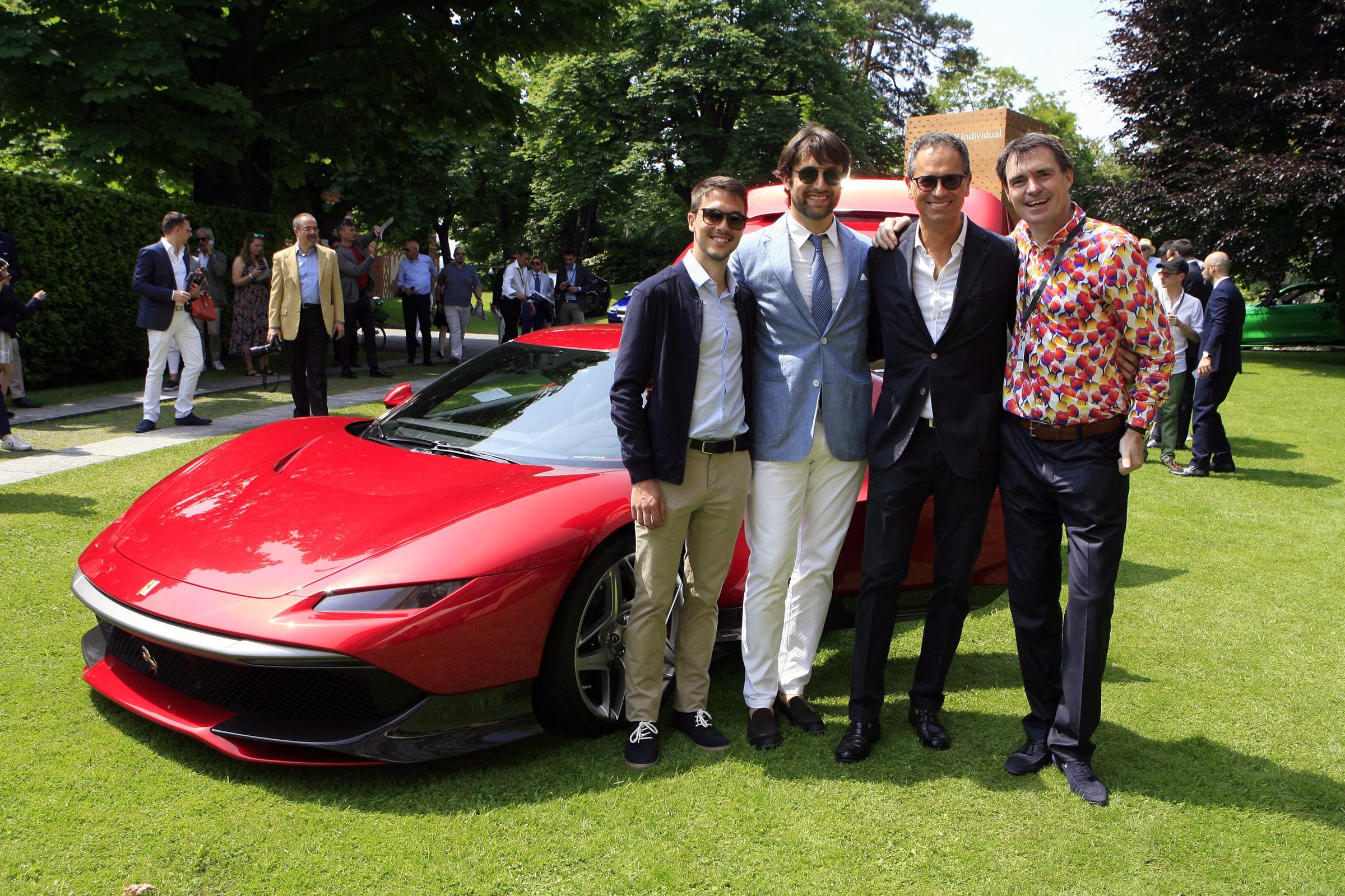 Saturday Moods - Chief designers from Ferrari with the SP38 Deborah