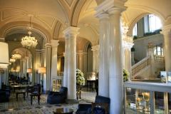 the lobby of the legendary hotel Villa d'Este