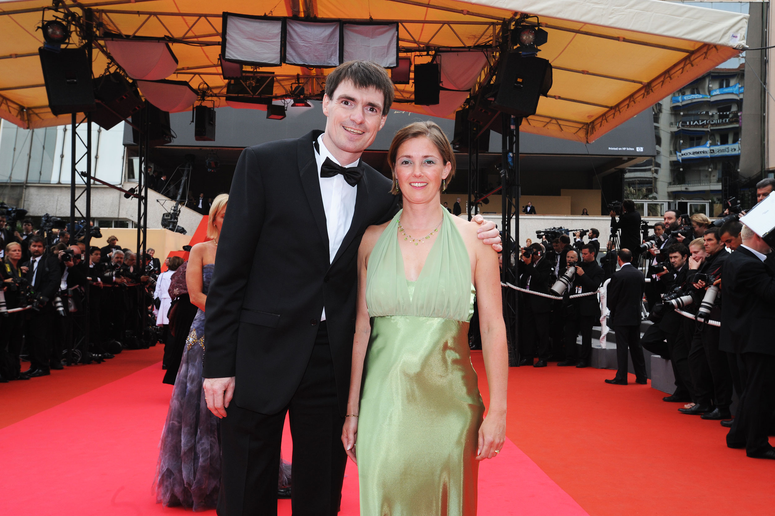 Film Festival of Cannes walking over the red carpet