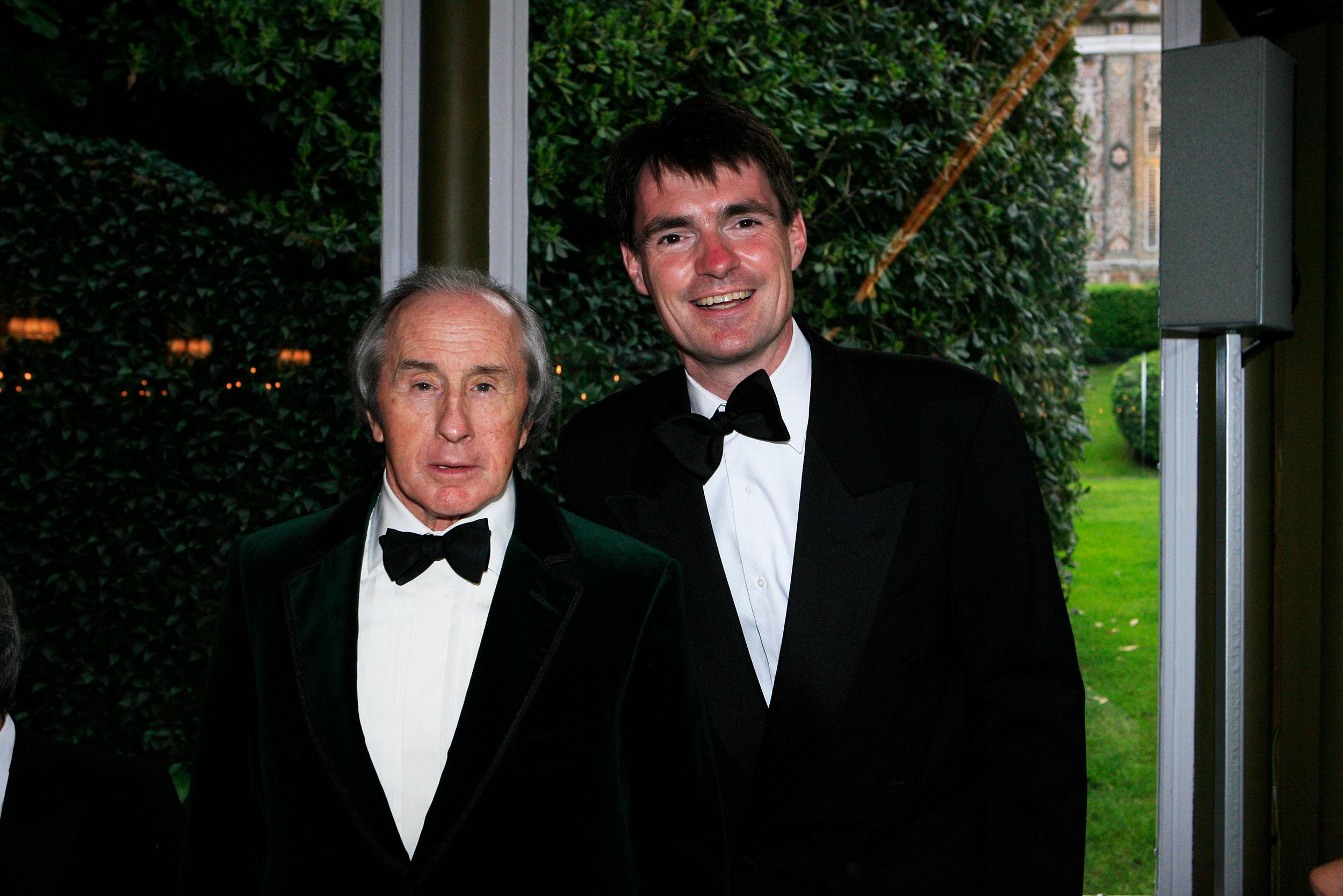 Sir Jackie Stewart at Villa d'Este with Cruise to Se7en founder Leon Beenen