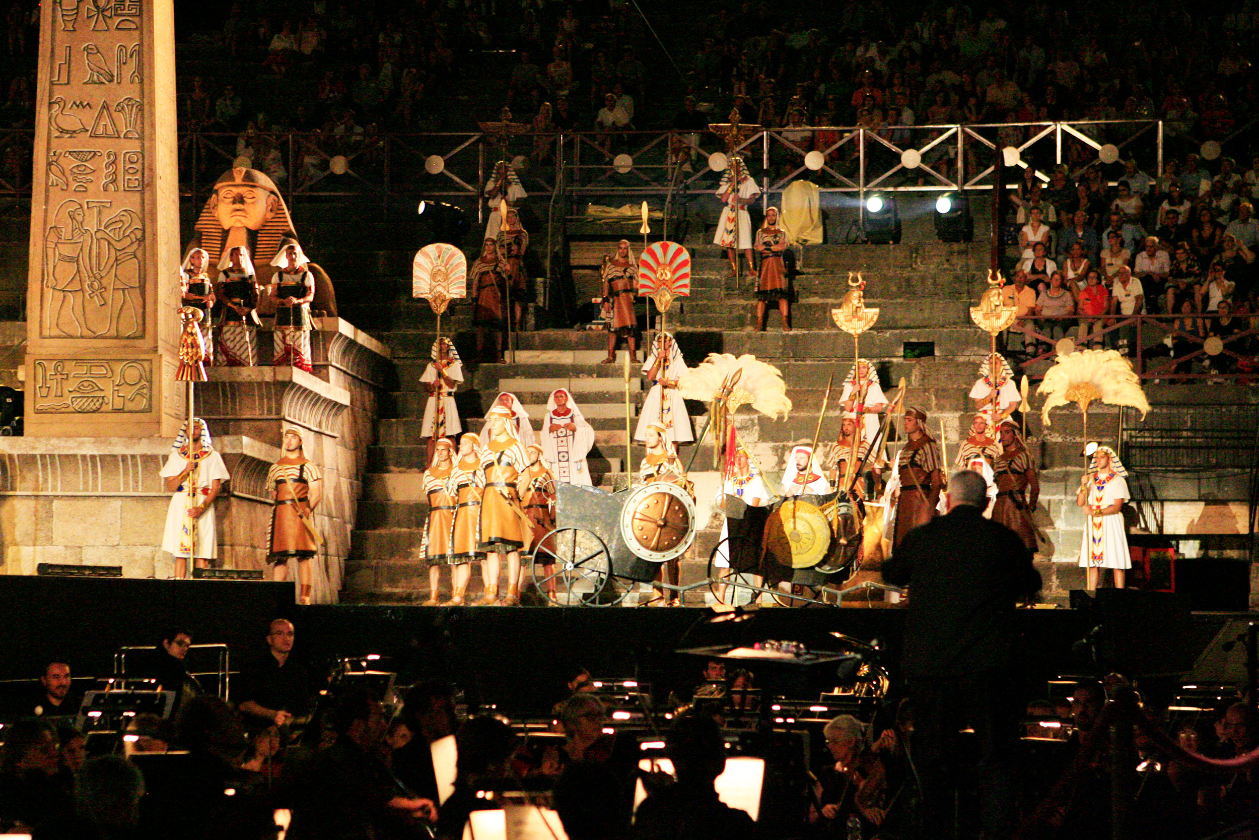 Front row seats at the Arena di Verona opera