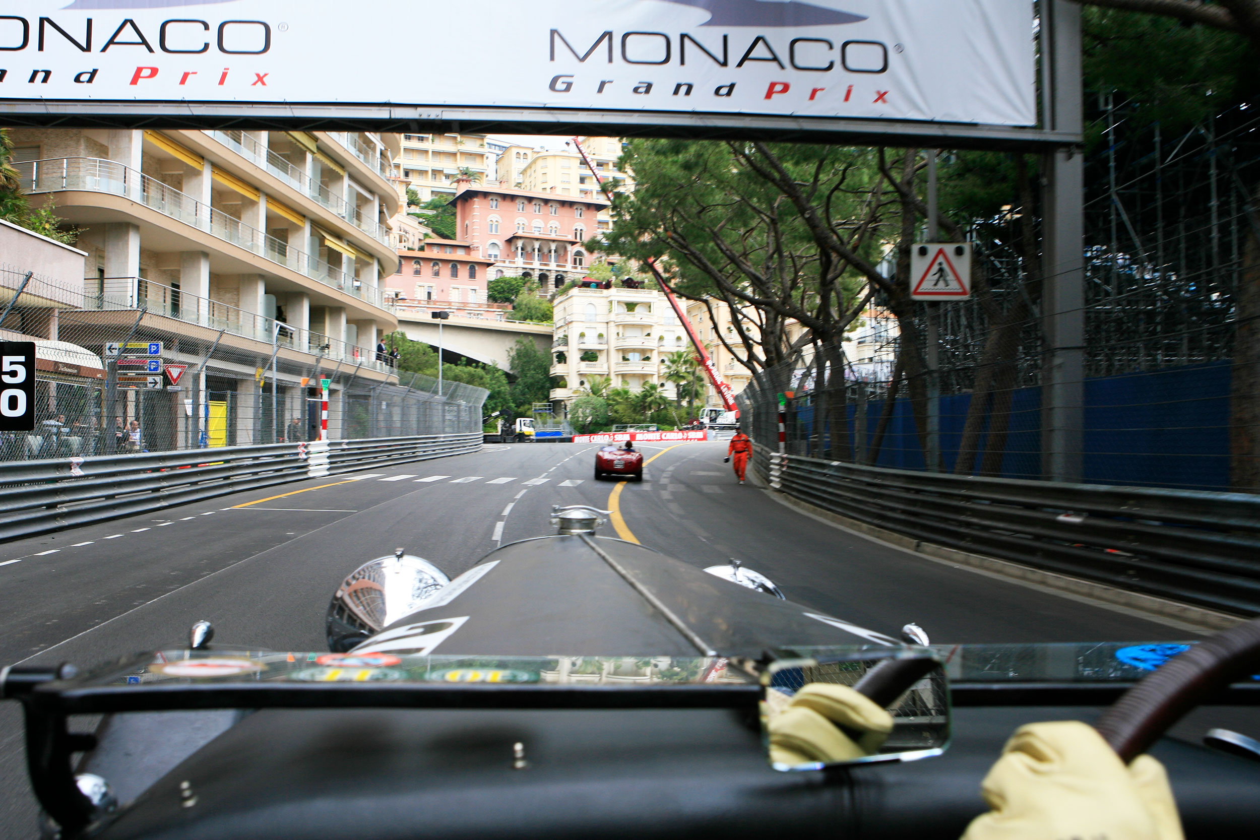 Driving on the legendary F1 racetrack Monaco  during GPMH