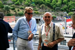 Sir Stirling Moss and one of our clients (guests)  at the GP Historique Monaco