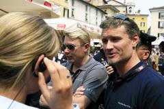 Mika Häkkinen and David Coulthard