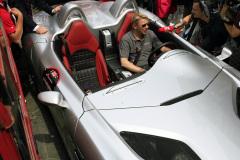 Mika Häkkinen and the  Mercedes-Benz SLR McLaren Stirling Mossworld premiere on the road