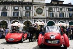 1000 Miglia Village for sealing of tehe cars- Piazza della Loggia