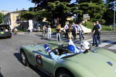 2197  JAGUAR C-Type (1952)   XKC 005  with Sir Stirling Moss behind the wheel fot tootage