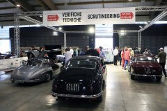 Mille Miglia Moods - Paddock Check-in Area  (Administrative checks and scrutineering) .