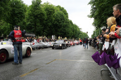 Mille Miglia Moods, line up before the offical styart at Viale Venezia
