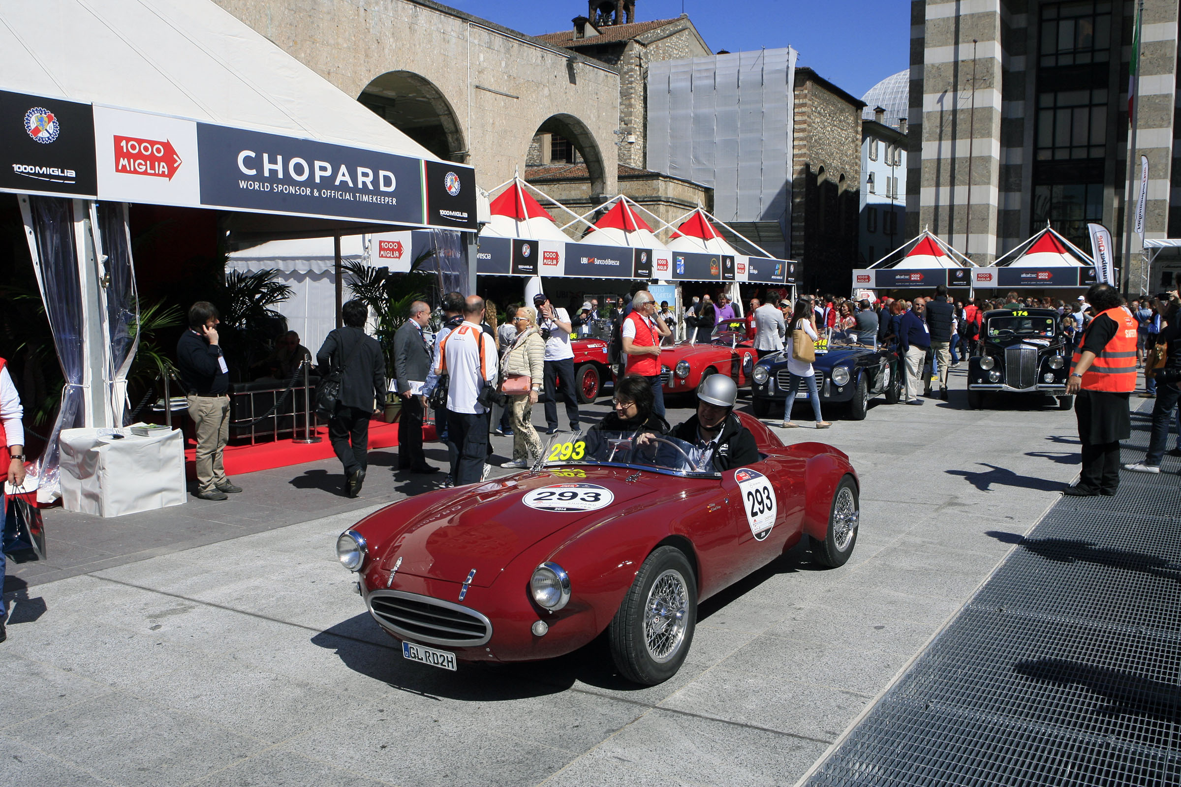 293 - DOLEGA Ralph (D) + SCHAAF - DOLEGA Brigit (D) Bianchi Pan. 750 Sport Colli (1954)