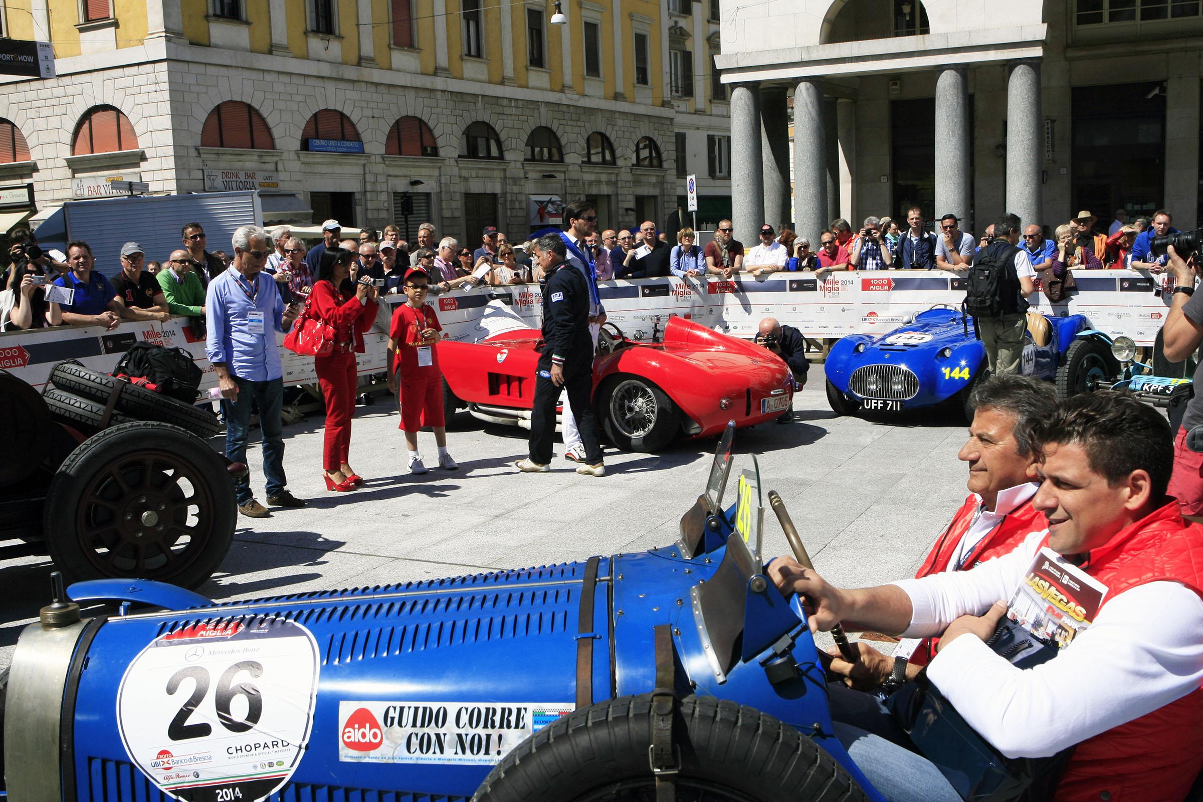 26 - FERRARI Bruno (I) + FERRARI Carlo (I) - Bugatti T 37 (1927)