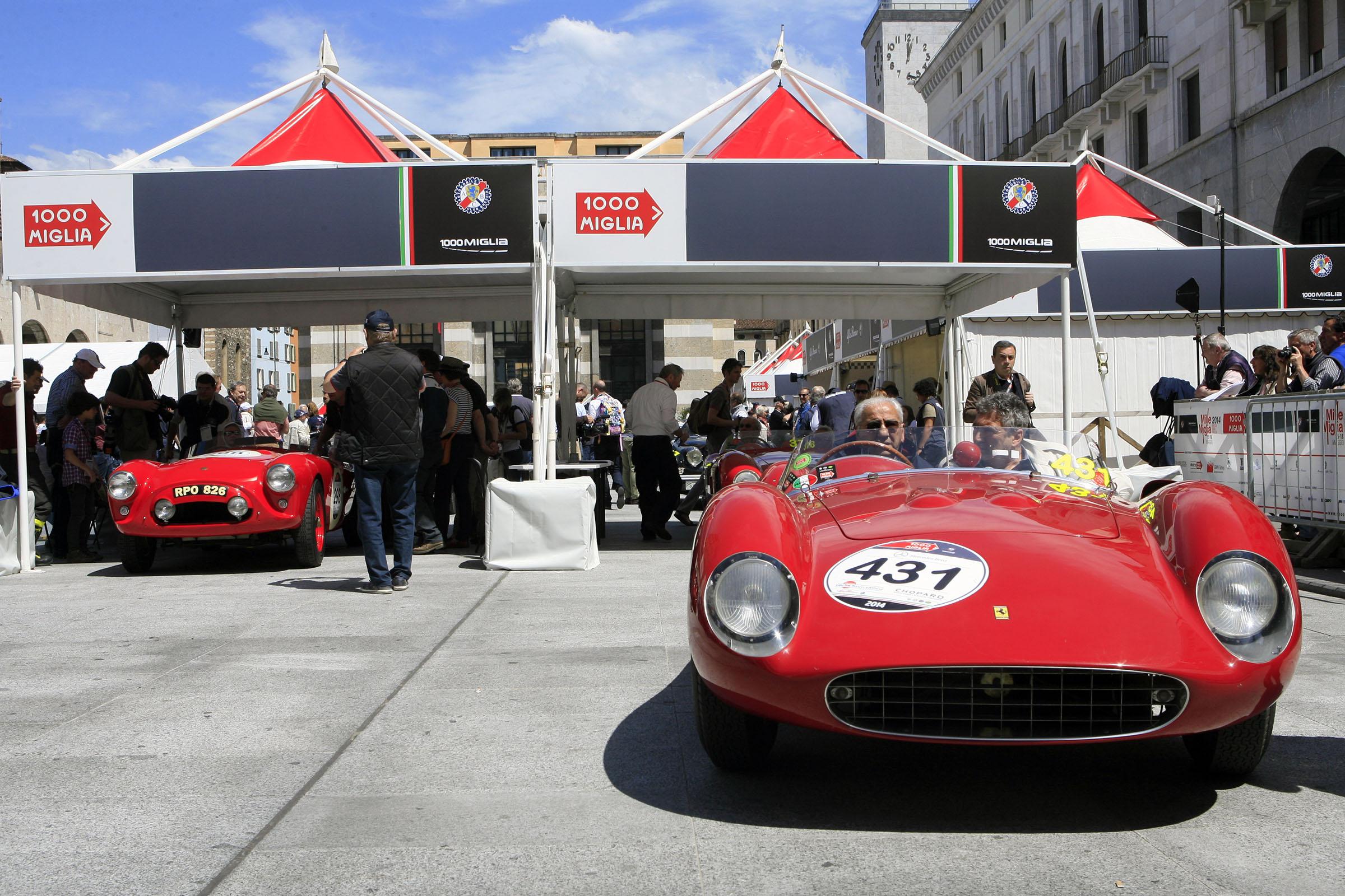 431 - CAGGIATI Claudio (I) + SASSI Emilio (I) - Ferrari 500 TRC spider Scaglietti (1957)