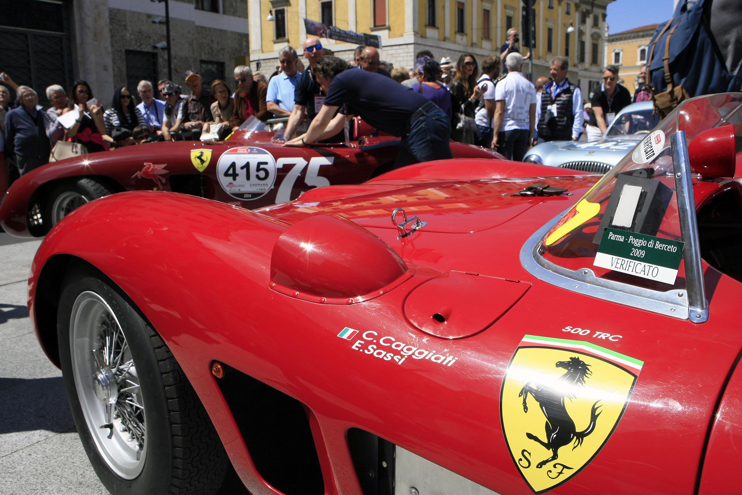 415 Ferrari 500 TR spider Scaglietti (1956)  meets 431 - Ferrari 500 TR spider Scaglietti (1957)