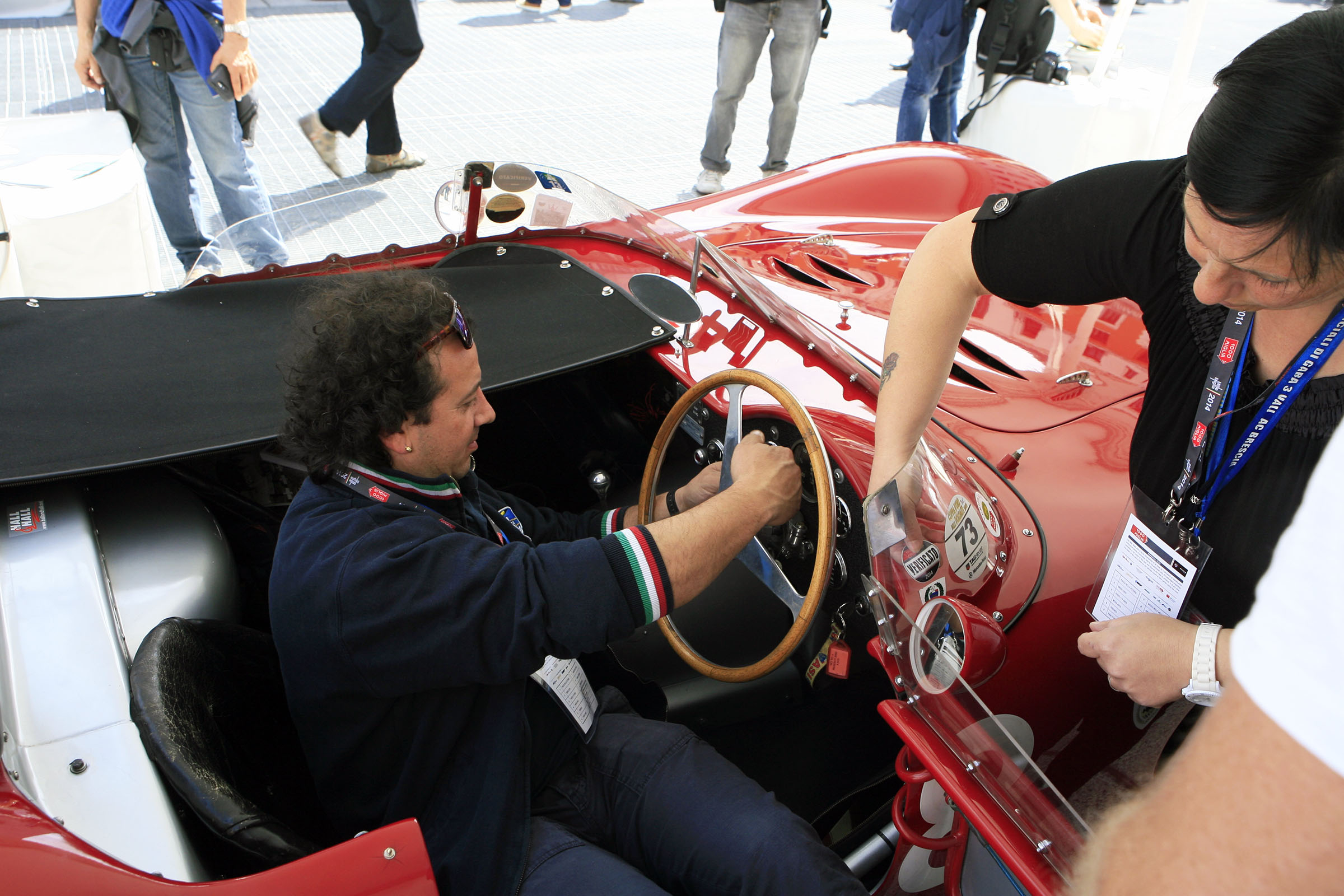 440 - WOOD Kevin (GB) + DEVINE Jim (GB) - Maserati 200 SI (1957)