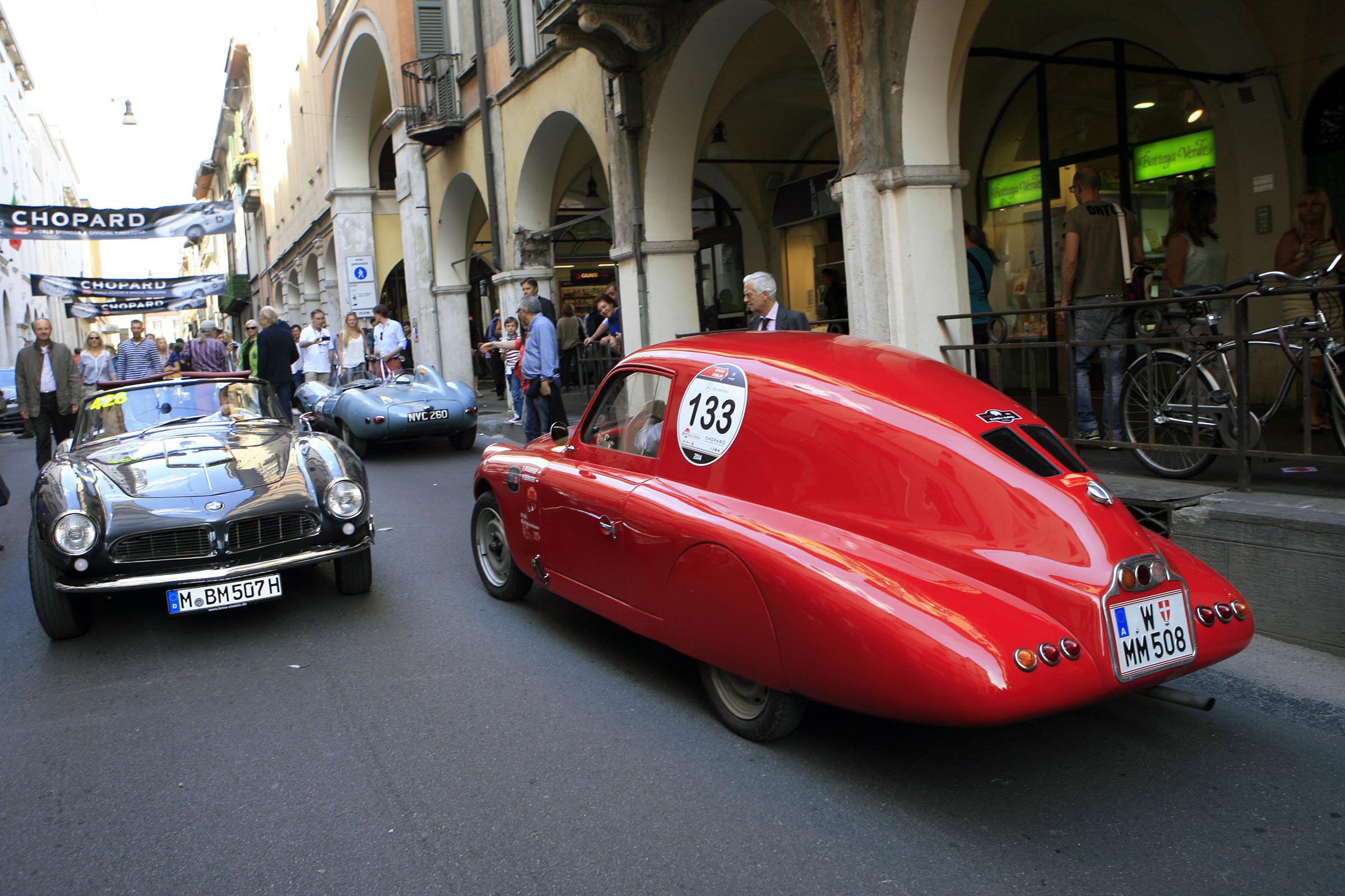 133 - BROMBERGER Rudolf (A) + ZEINLER Christian (A) - FIAT 508 C MM berlinetta aerodynamic (1939)