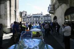 Mille Miglia Moods. Driving up to the new sealing area Piazza Victoria