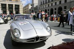 280 -DEROSA Gaetano (I) + CONFALONIERI Laura (I) - Alfa Romeo 2000 Sportiva (1954)