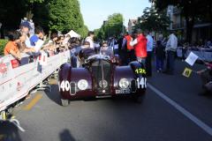 126 -MELLINGER Pierre (CH) + GELMINI Tommaso (I) - Alfa Romeo 6C 2300 B MM spider Touring (1938)