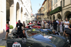 Via X Giornate parking lot Mille Miglia village after the sealing