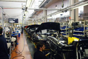 Lamborghini assembly line: Gallardo